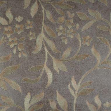 Papel de Parede com PVC Folhas Dourada 2 Kapa KP0609B