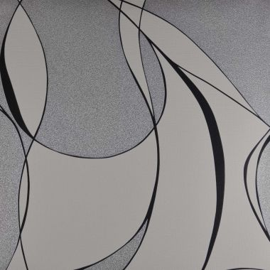 Papel de Parede PVC Abstract Prata Brilho e Branco Kapa KP1001B