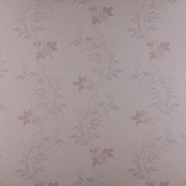 Papel de Parede PVC Floral Lilás Kapa KP0408B