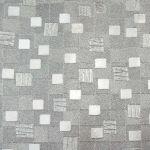 Papel de Parede PVC Metálico Quadrados Prata Kapa KP1005D