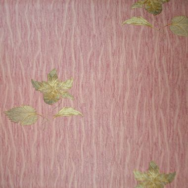 Papel de Parede PVC Relevo Floral Dourado e Fundo Rosa Antigo Kapa KP0406C